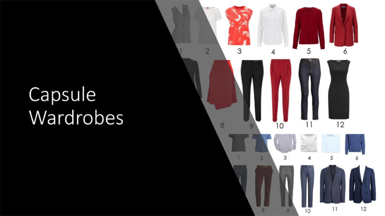 Building a capsule wardrobe with just 12 pieces.
